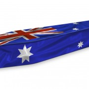 Expression coffin australian flag