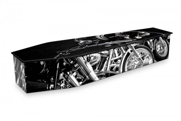 expression coffin black motorcycle