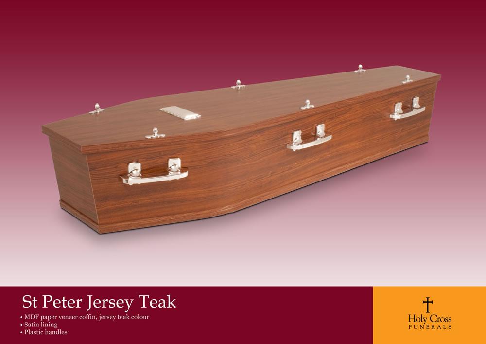 St Peter Jersey Teak Coffin