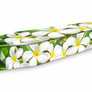 expression coffin frangipani flowers