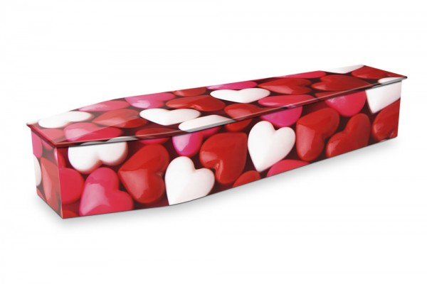 expression coffin love hearts