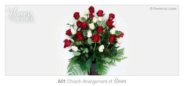 Church Arrangement of Roses
