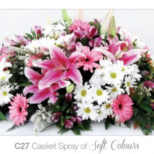 Casket Spray of Soft Colours