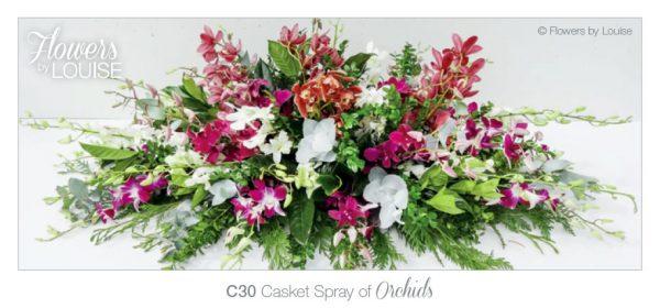 Casket Spray of Orchids
