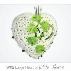 Large Heart of White Flowers