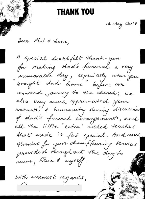 Holy Cross Funerals Testimonial