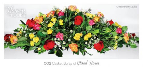 Casket Spray of Mixed Roses
